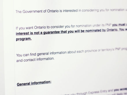 OINP: Como funciona a Notification of Interest e a nomeação provincial de Ontario