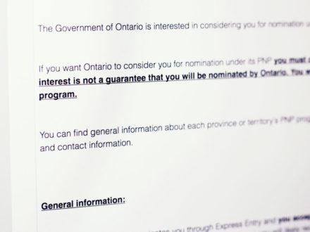 OINP: Como funciona a Notification of Interest e a nomeação provincial de Ontario