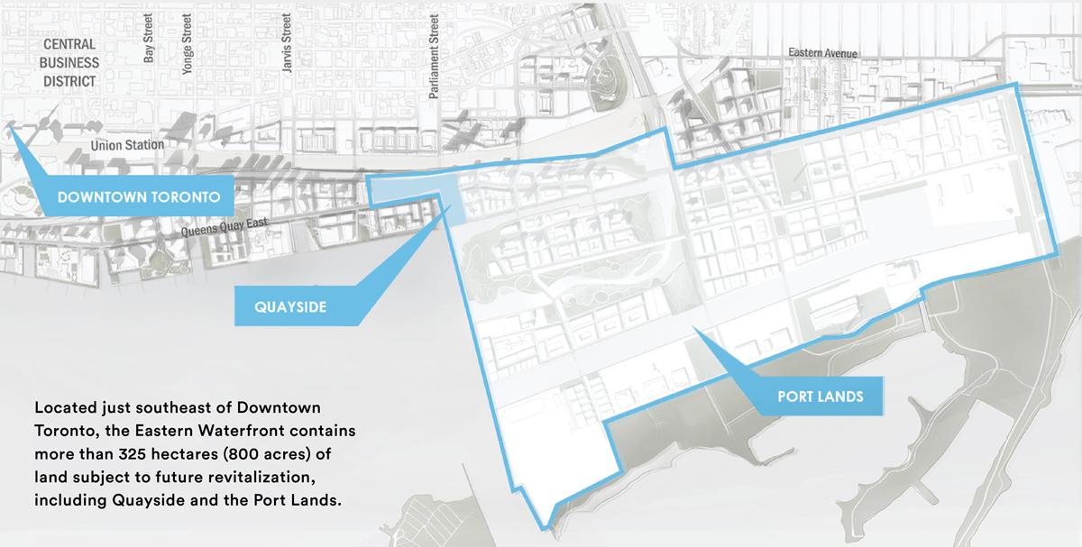 Mapa Waterfront Toronto