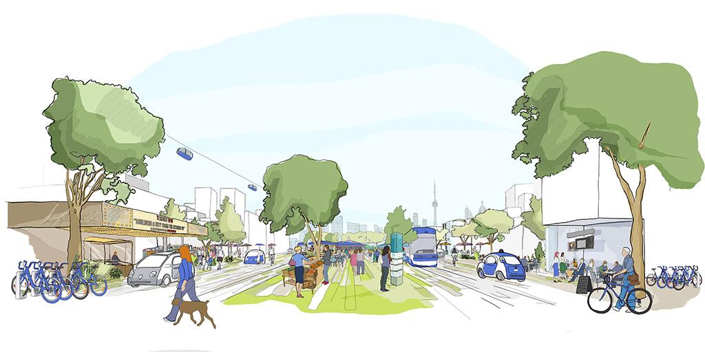 Mobilidade urbana no bairro do futuro - Eastern Waterfront Toronto